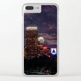 Boston at night Clear iPhone Case