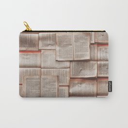 Open Books Library Bookworm Reading Carry-All Pouch