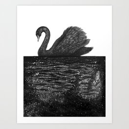 The Other Side: Black Swan Art Print
