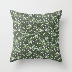 Mistletoe & Snow Throw Pillow