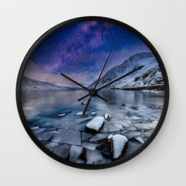 Ogwen Lake Snowdonia Wales Wall Clock