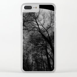 Abstract Trestle Trees Clear iPhone Case