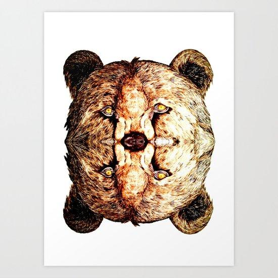 Two-Headed Bear Art Print