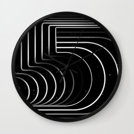 Number «5» Wall Clock