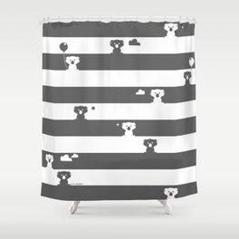 Monochromatic friends Shower Curtain