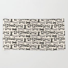 Eyeglasses Beach Towel