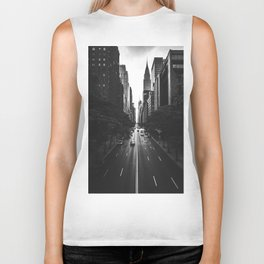 New York City (Black and White) Biker Tank