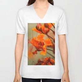Orange & Red Unisex V-Neck