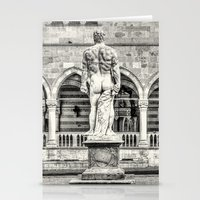hercules Stationery Cards featuring Hercules' back by Roberto Pagani