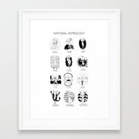 astrology Framed Art Prints featuring Natural Astrology by Coily and Cute