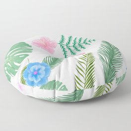 Custom Watercolor  Geographic Palm Leaves, Paint Pattren Floor Pillow