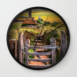 Gate to the Holy Island Wall Clock
