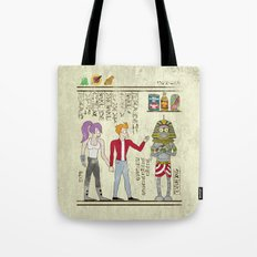 Hero-glyphics: Planet Express  Tote Bag