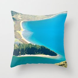 Lake in Azores islands Throw Pillow