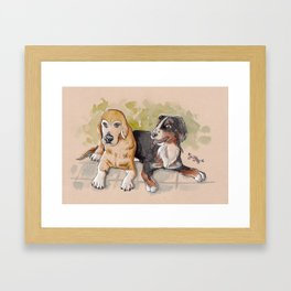 Wuff! Framed Art Print