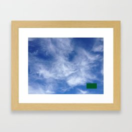 censored: cloud face with ufo Framed Art Print