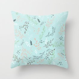 Light And Lovely Spring Floral Garden Pattern Throw Pillow