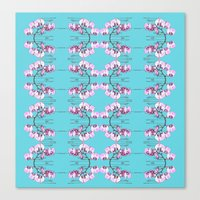 orchid Canvas Prints featuring Orchid by Nahal