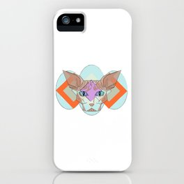 Geometric Hairless Cat iPhone Case