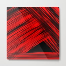 Red Triangle Metal Print