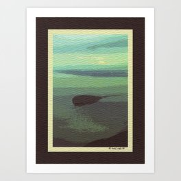 Mt. Baker and Protection Island Art Print