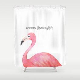 flamingle Shower Curtain
