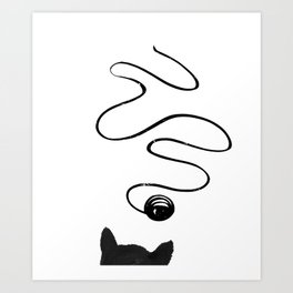 Playful Cat Art Print