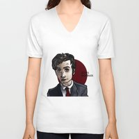david tennant V-neck T-shirts featuring David Tennant by Izzy King