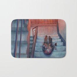 """watercolor painting / """"secret place"""" Bath Mat"""