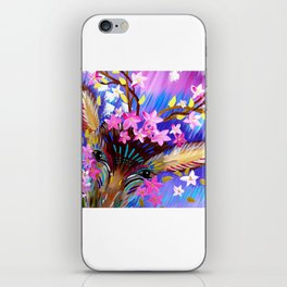 Deer Painting with Abstract Colours iPhone Skin