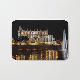 Cathedral of Palma de Mallorca at night - Spain Bath Mat