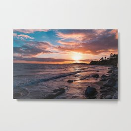 Butterfly Beach Sunset Metal Print