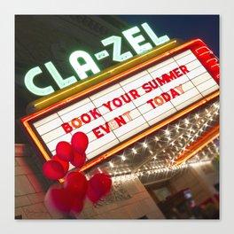Book It at the Cla-Zel! Canvas Print