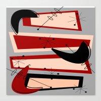 mid century modern Canvas Prints featuring Mid-Century Modern Boomerangs by Kippygirl
