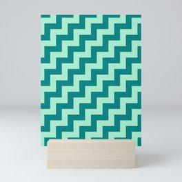 Magic Mint Green and Teal Green Steps RTL Mini Art Print
