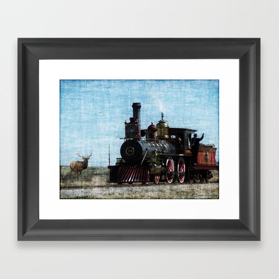 Iron Horse Invades the Plains Framed Art Print