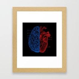 Heart and Brain Framed Art Print
