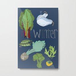 Fresh from the Farmers Market: Winter Metal Print