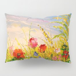 Field and flowers Pillow Sham