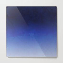 Modern navy blue watercolor ombre gradient fade Metal Print