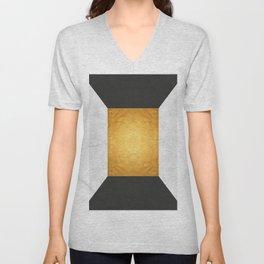 Golden Geometric Art XIX Unisex V-Neck