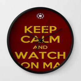 Keep Calm and Watch Iron Man  Wall Clock