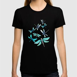 Dragonflies on Paisley T-shirt