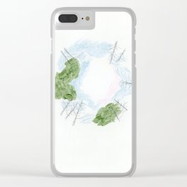 Trees and sky Clear iPhone Case