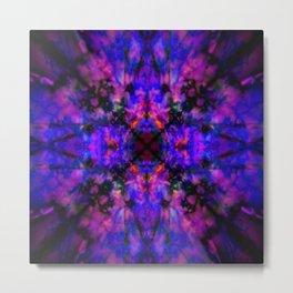 Dark blue kaleidoscope pattern Metal Print