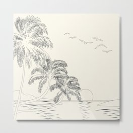 Beach Linescape Metal Print