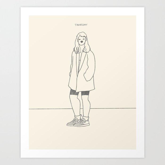Casual Thursday Art Print