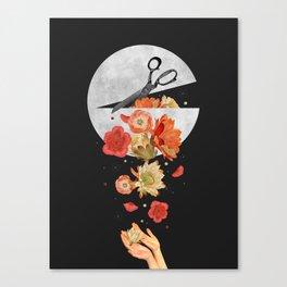 Moon Spill Canvas Print
