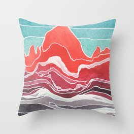 Cerro Fitz Roy Throw Pillow