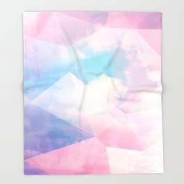 Cotton Candy Geometric Sky #homedecor #magical #lifestyle Throw Blanket